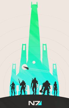 Here's two out of the six minimalist Mass Effect posters released by…