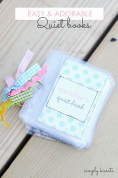 How to make an easy & adorable quiet book | simplykierste.com