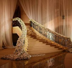 """""""Floral staircase at a wddding in Jeddah tag someone that would love this…"""