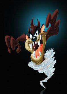 """Beautiful """"Taz Mania"""" metal poster created by Capung Studio. Our Displate metal prints will make your walls awesome. Looney Tunes Wallpaper, Cartoon Wallpaper, Apple Wallpaper, Colorful Drawings, Easy Drawings, Cartoon Art, Cartoon Characters, Cartoon Drawings, Fotos Do Pokemon"""