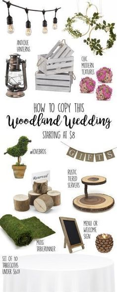 Wedding Ideas, Woodland Wedding, Rustic Wedding, Decor, decorations, DIY, Ideas, Reception, Centerpieces, On a Budget, , Outdoor, Barn, whimsical, planning, fall, winter, theme, ceremony, woodsy, boho, chic, classy, wooden, outdoorsy, elegant, tablecloths, Small, vintage, inexpensive, Shabby Chic, banner, lanterns, crates, signs, country, chalkboard, textures, greenery, garland, topiaries, intimate, bulk, table settings, ideas, #weddingideas #rusticwedding #woodlandwedding #diyweddingideas