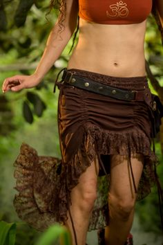 Sita Skirt (Brown) - Goa Adjustable Fairy Festival Skirt Bohemian Gypsy Hippie Fairy Jungle Wild Sexy Adjustable Goa Nomadic by AryaClothing on Etsy https://www.etsy.com/listing/232440333/sita-skirt-brown-goa-adjustable-fairy