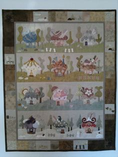 house cupcake another idea for Resa? Hand Applique, Applique Quilts, Embroidery Applique, House Quilts, Baby Quilts, Quilting Projects, Quilting Designs, Japanese Quilts, Quilt Tutorials