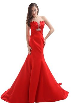 Red Wedding Dresses- the design of the top us the only thing I like on the dress