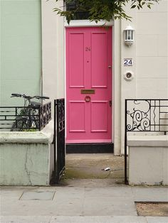Notting Hill Door Color Inspiration - see more at www.thebambalife.com