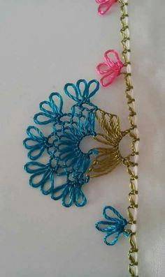 Point Lace, Thread Work, Needle Lace, Needlepoint, Tatting, Diy And Crafts, Crochet Necklace, Embroidery, Anime