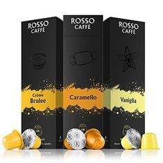 Nespresso Compatible Capsules Mix Sweet Flavors Pack Of 60 Pods Free Shipping #RossoCaffe