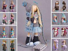 Decor doll Tilda doll Interior doll Rag doll Art doll Blue doll Soft doll Cloth doll Fabric doll Catty doll Collection doll by Alena R __________________________________________________________________________________________ Hello, dear visitors! This is handmade soft doll