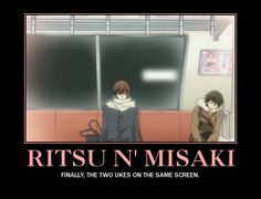 Ritsu and Misaki. I loved seeing the characters from each show together. It was fun to find them haha.