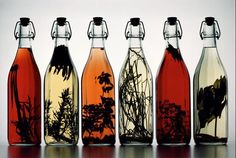 decoraciones con botellas