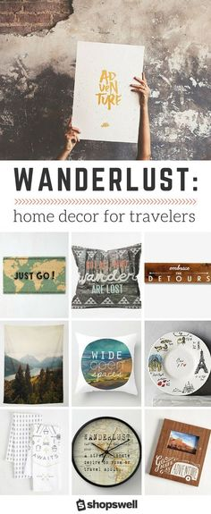 What happens when home decor meets travel? A collection emerges that satisfies even the worst wanderlust, that's what. ** Read more at the image link. #urbanhomedecor