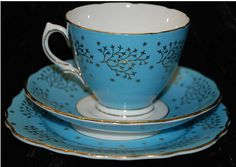 Colclough bone china tea cup saucer & side plate