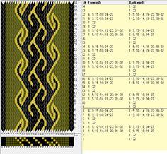 32 tarjetas, 3 colores, repite cada 8 movimientos // sed_291 diseñado en GTT༺❁