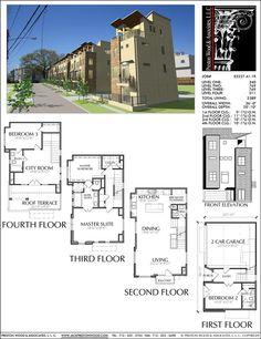 New Townhomes Plans, Narrow Townhouse Development Design, Brownstones – Preston Wood & Associates