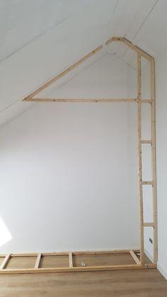Attic Bedroom Storage, Attic Bedroom Designs, Bedroom Closet Design, Attic Rooms, Closet Designs, Home Decor Bedroom, Slanted Ceiling Closet, Sloped Ceiling Bedroom, Rooms With Slanted Ceilings