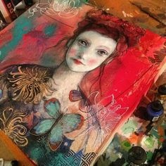 Maria Pace-Wynters Mixed Media Artist - beautiful,  love the colors...