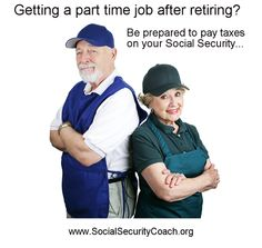 Part time job may cause your Social Security to be taxable