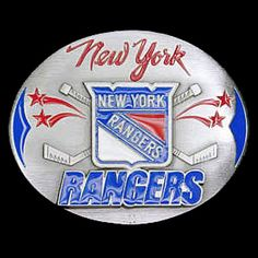 New York Rangers NHL Enameled Belt Buckle