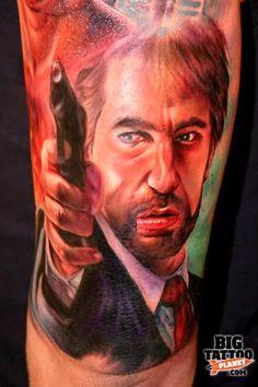 Paul Acker Alan Rickman tattoo. Love this so hard!!