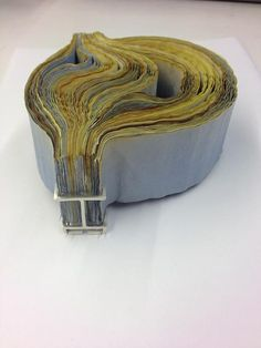 White Metal and Ink Stained Paper, Rachel Blair Paper Jewelry, Metal Jewelry, Jewelry Art, Jewelry Design, Piercings, Back Jewelry, Mixed Media Jewelry, Textile Fiber Art, Body Adornment