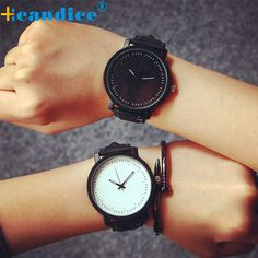 New Watch Fashion Round Steel Case Men Women PU Leather Quartz Analog Wrist Watch Creative #Affiliate