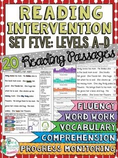 This reading intervention program has everything needed to teach and assess fluency, comprehension, word work, and vocabulary skills. Check it out!