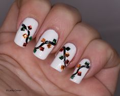 Lacky Corner: Winter Nail Art Challenge - Christmas Lights or Candles