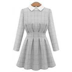 SHARE & Get it FREE   Trendy Long Sleeve Flat Collar Plaid Dress For WomenFor Fashion Lovers only:80,000+ Items·FREE SHIPPING Join Dresslily: Get YOUR $50 NOW!