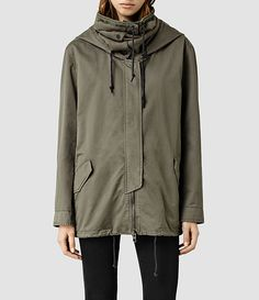 $363 Womens Arton Jacket (Khaki Green) - product_image_alt_text_1