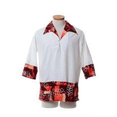 Vintage Pullover Hawaiian Wedding by CkshopperVintage Vintage Hawaiian Shirts, Tiki Party, Wedding Shirts, Batik Prints, Aloha Shirt, Front Bottoms, Tunic Shirt, Etsy Store, Pullover