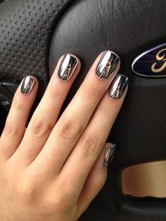 Metallic nails... Must have