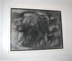 Post-War Design American picture abstract charcoal