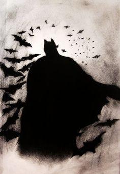 Batman Silhouette 1-18-13 art by DK