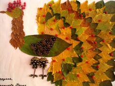 Красивые поделки из засушенных листьев осени. Картины, аппликации, ошибана…
