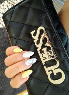 Yellow Nails, Heart Ring, Rings, Jewelry, Jewlery, Jewerly, Ring, Schmuck, Yellow Nail