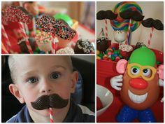 mr potatohead party (chocolate mustaches)