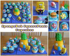 spongebob cupcakes!! Sponge Bob Cupcakes, Party Ideas, Spongebob Squarepants, Bob Styles, New Hobbies, Cake Pops, Turning, Bakery, Cakepops