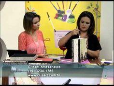 ▶ Mulher.com 11/01/2013 Marisa Magalhães - Forração de caixas com papéis decorativos de scrap 2/2 - YouTube