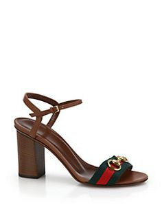 Gucci - Horsebit Fabric & Leather Sandals.  I get 7.3% back with my cash back toolbar at Saks 5th Avenue with http://cashbacktoyourwallet.com/