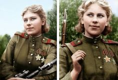 Nineteen-year-old Russian sniper Roza Shanina after 54 confirmed Nazi kills during World War II. | 28 Of The Most Badass Moments In History