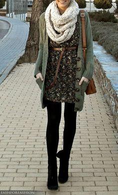 friday fashion crush: make a summer dress fall ready