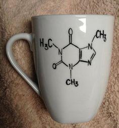 Caffeine molecule coffee mug  http://www.etsy.com/listing/130231372/caffeine-molecule-coffee-mug