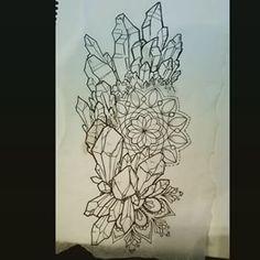 crystal mandala tattoo design