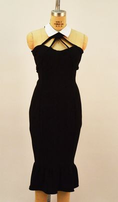 Tuxe Black Ponte Mermaid Dress