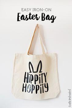 DIY Bunny Tote Bag using Heat Transfer Vinyl (HTV) and Cutting Machine