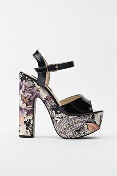 Floral Fantasy Platform Sandals
