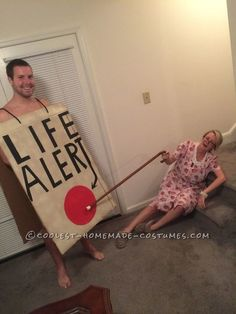 Life Alert & Old Lady - Couples Halloween Costumes That Don't Suck - Photos
