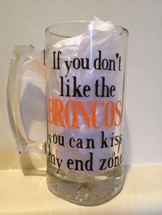 Custom Beer Mug, Personalized Beer Mug, NFL Beer Mug, Football Mug - pinned by pin4etsy.com