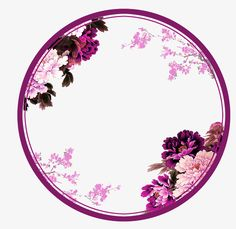 Purple chinese wind flower circle border texture PNG and Clipart Flower Background Wallpaper, Flower Backgrounds, Wallpaper Backgrounds, Flower Circle, Flower Frame, Flower Art, Flower Graphic Design, Circle Borders, Nail Logo