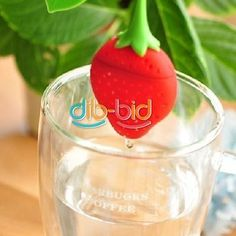 Cute Strawberry Style Strainer Herbal Tea Leaf Spice Kitchen Tool Infuser Filter